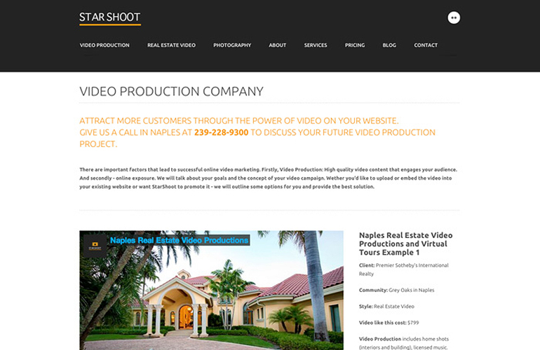 web design project starshoot