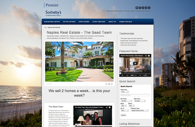 web design project the saad team at premier sothebys international realty